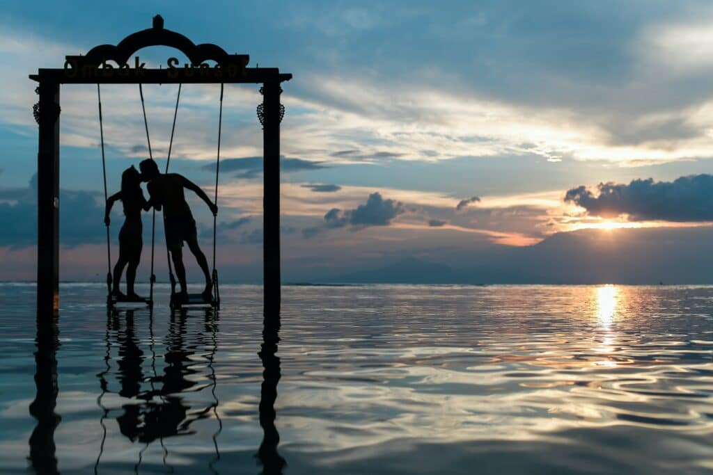 spiritual marriage - couple on water