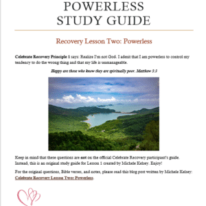 celebrate recovery lesson 2 - powerless study guide image preview