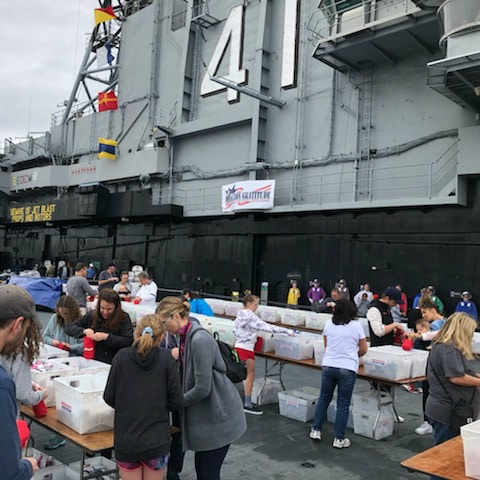operation gratitude assembly of boxes