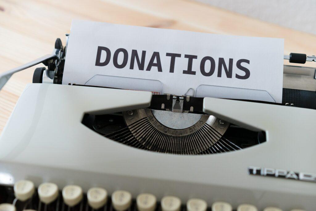 scottish rite for children - typewriter with donations