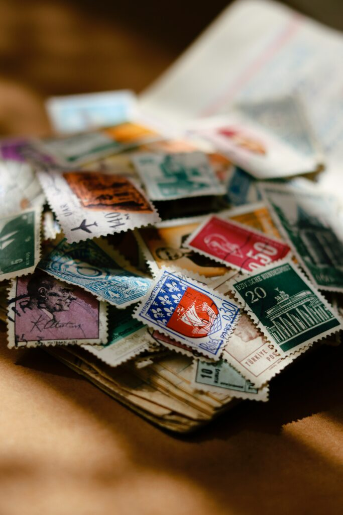 postage stamps for mailing packages
