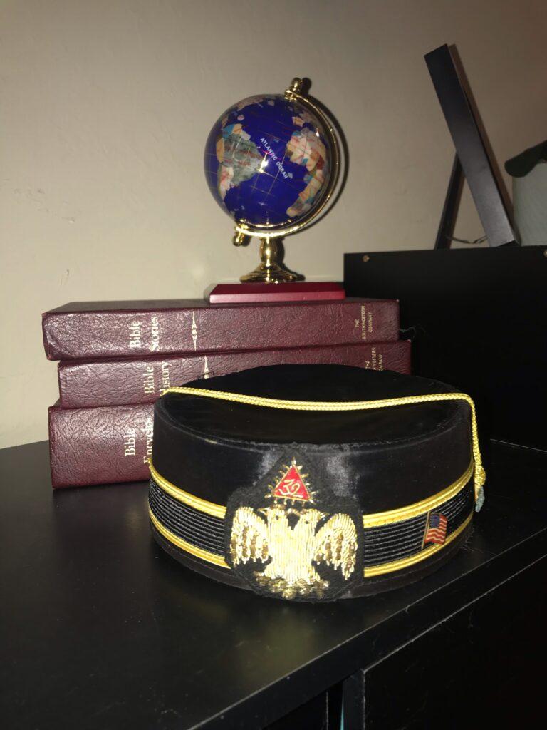 scottish rite for children- scottish rite cap with globe and bible